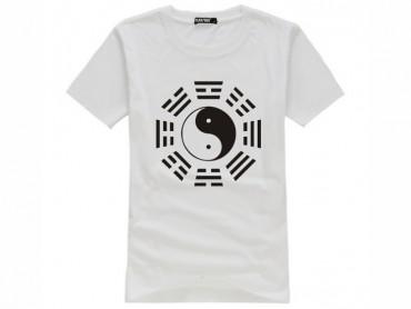 Tai Chi T-shirt Eight Trigrams White
