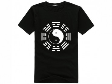 Tai Chi T-shirt Eight Trigrams Black