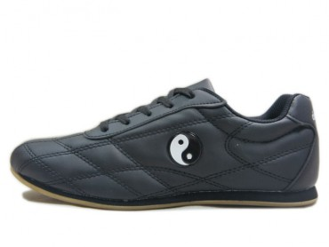 Double Star  Leather Tai Chi Shoes Black Tai Chi Pattern