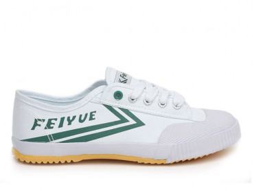 Feiyue Lo Canvas Sneakers -  White/Green Shoes