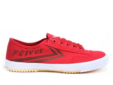 Feiyue Plain Canvas Sneakers -  Red Shoes