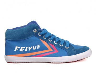 Feiyue DELTA MID Sneakers - Blue Canvas Shoes
