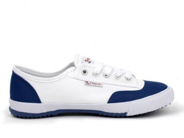 Feiyue Lo Plain II Sneaker - White/Blue Shoes