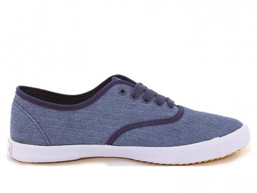 Feiyue Plain Jeans Sneaker - Blue shoes