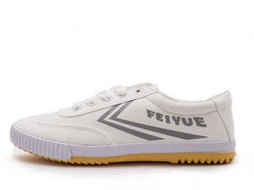 Feiyue Lo Plain 2015 New Style White Grey Sneaker