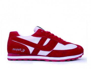 Feiyue Sneakers for Marathon and Jogging Red
