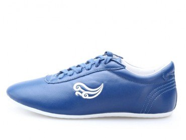 Genuine Leather Tai Chi Shoes for Martial Art Sky Blue