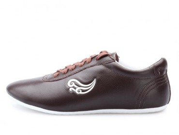 Genuine Leather Tai Chi Shoes for Martial Art Coffee