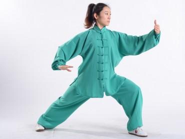 Professional Tai Chi Uniform Summer Woman Green