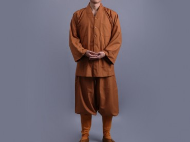 Shaolin Kung Fu Clothing Cotton Ochre