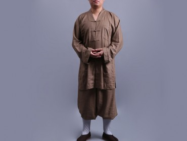 Shaolin Kung Fu Clothing Cotton and Linen Khaki