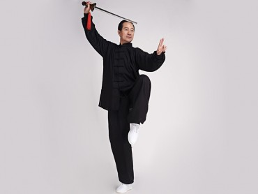 Tai Chi Clothing Linen Suit Black