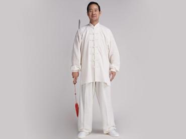 Tai Chi Clothing Linen Suit White