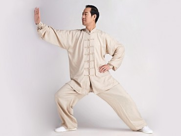Tai Chi Clothing Linen Suit Beige