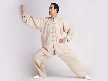 Tai Chi Clothing Linen Suit Beige