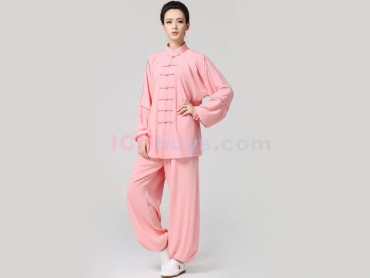 Tai Chi Clothing Linen for Women Rosy