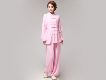 Tai Chi Clothing Pure Cotton for Women Pink