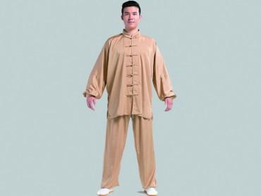 Tai Chi Clothing Set Men Spring Summer Champagne