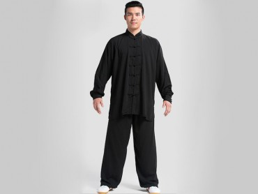 Tai Chi Clothing Set Professional Black Jinwu