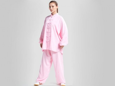 Tai Chi Clothing Set Professional Pink Jinwu