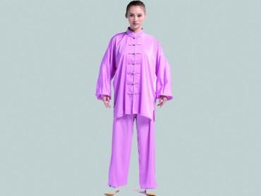 Tai Chi Clothing Set Women Spring Summer Light Purple