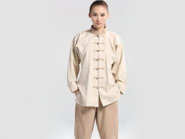 Tai Chi Clothing Flax Beige Jinwu
