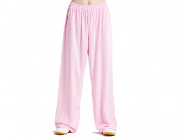Tai Chi Pants Cotton with Silk for Women Pink