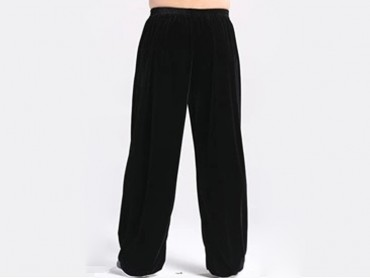 Kung Fu Pants Pleuche for Men and Women Black