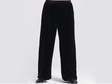 Kung Fu Pants Pleuche for Men and Women Navy