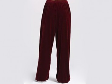 Tai Chi Pants Pleuche for Men and Women Carlet