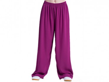 Tai Chi Pants Silk and Linen for Men and Women Violet
