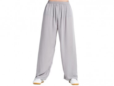 Tai Chi Pants Silk and Linen for Men and Women Grey