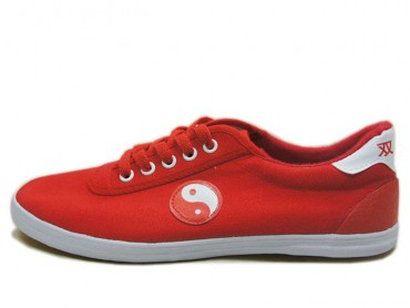 Double Star Canvas Tai Chi Shoes Red Tai Chi Pattern