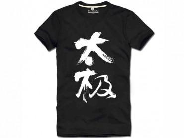Tai Chi T-shirt Chinese Characters Tai Chi Black