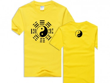 Tai Chi T-shirt Eight Trigrams Yellow