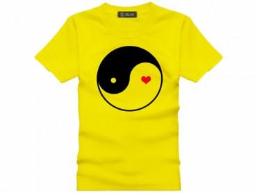 Tai Chi T-shirt Heart Yellow