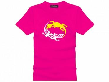 Tai Chi T-shirt Lizard Pink