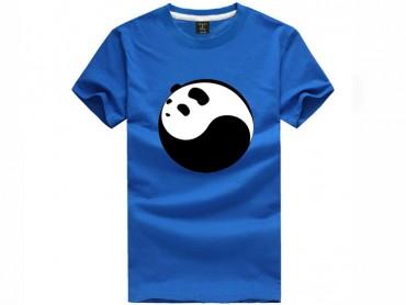 Tai Chi T-shirt Panda Blue