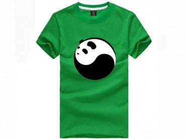 Tai Chi T-shirt Panda Green