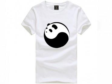 Tai Chi T-shirt Panda White