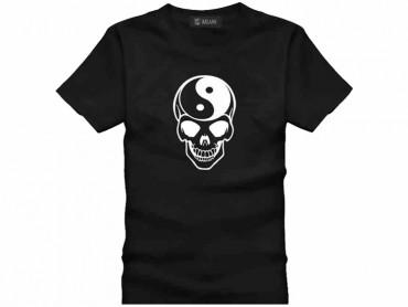 Tai Chi T-shirt Skull Black
