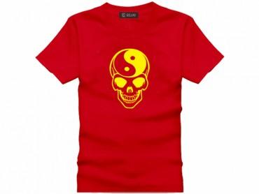 Tai Chi T-shirt Skull Red