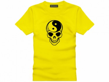 Tai Chi T-shirt Skull Yellow