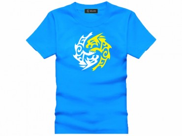 Tai Chi T-shirt Vintage Beast Blue
