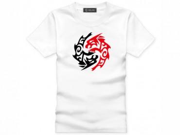 Tai Chi T-shirt Vintage Beast White
