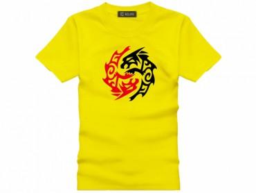 Tai Chi T-shirt Vintage Beast Yellow