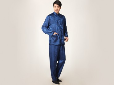 Traditional Kung Fu Clothing Tai Chi for Men Navy Blue
