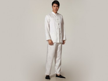 Traditional Kung Fu Clothing Tai Chi for Men White