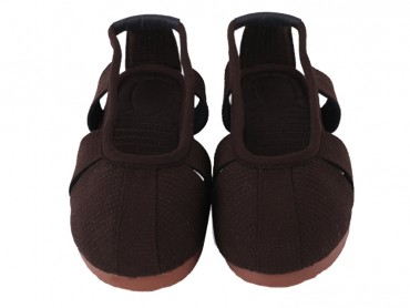 Traditional Shaolin Kung Fu Shoes Cowhells Sole Brown