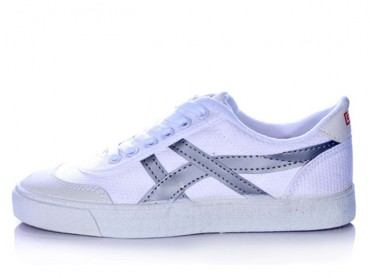 Warrior Footwear Casual Shoes White Silver Stripe